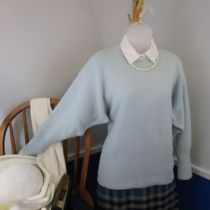 Vintage 80's Dolman Sleeve Angora/Wool Sweater